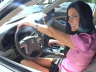 India Summer lives alone and has had a crush on the security guard that works in her apartment complex. That Babe gives a decision to lure him to the abode asking him if that guy could assist her with her security system. This of course was a bold face lie, but it did the trick. This Guy comes over and fiddles around with the key pad when all of a sudden this playgirl comes down stars wearing no thing but her pants. The guard can't aid him self be enticed by her and raunchy madness ensues. They fucked all over the living room and this playgirl pretty soon finds out that that guy likewise has had a crush on her for some time and even masturbated in the guard booth a pair times. This one is for the books. Have A Fun!