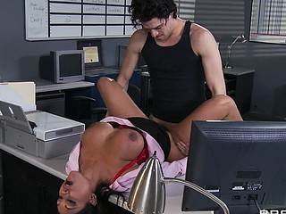 Priya and Xander are one as well as the other fighting for the same position at Glubbert Financial. The One And The Other are equally qualified, equally ambitious and thus, equally abhor each other as result. In a battle of wits, billibongs and dicks the two proceed to fuck each others brains out all over the office in order to settle the score, one time and for all. Who will watch eye to eye suit out triumphant?