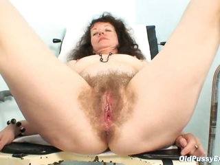 Karla visits gyno clinic with highly hairy slit