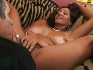 MILF Persia Pele has her unshaved hole licked
