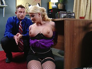 Leya can't live out of it when her boss treats her like a wicked cutie. That Sweetheart wants to get in trouble so badly that that chick starts fucking up on purpose, and lastly her flubs get her exactly what this chick wants. This Sweetheart can't obey, so Mr. Bailey teaches her and her pretty little behind a lesson in obedience.